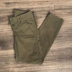 J crew- army green Andie pant. Size 2